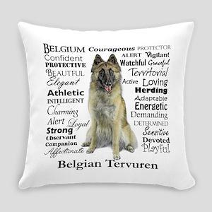 Belgian Tervuren Traits Everyday Pillow