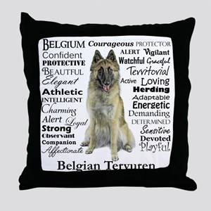 Belgian Tervuren Traits Throw Pillow