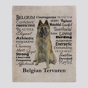 Belgian Tervuren Traits Throw Blanket
