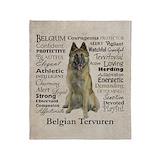 Belgian tervuren Fleece Blankets