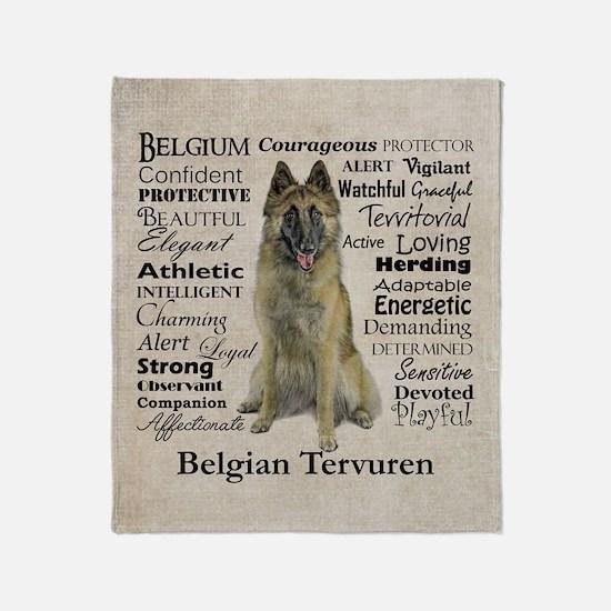 Belgian Tervuren Traits Throw Blanket