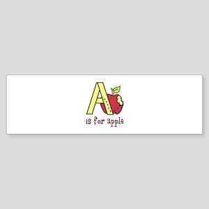 A s for apple Bumper Sticker