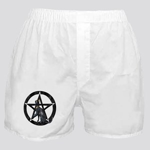 Goddess Bast Pentacle Symbol Boxer Shorts