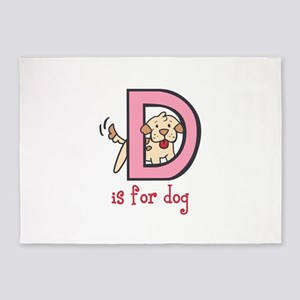 D IS FOR DOG 5'x7'Area Rug
