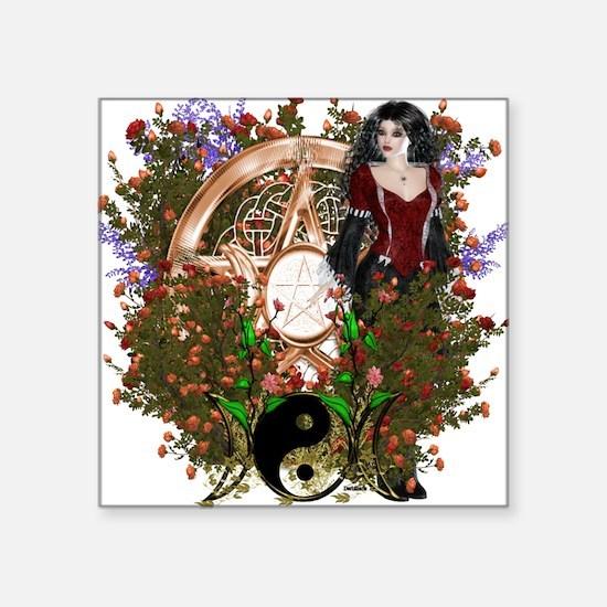 Summer Solstice Wicca Pentacle Sticker