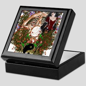 Summer Solstice Wicca Pentacle Keepsake Box