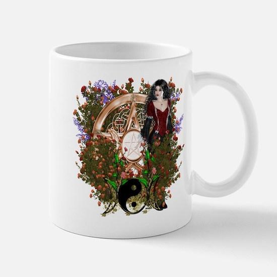 Summer Solstice Wicca Pentacle Mugs