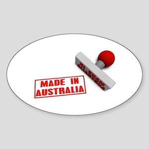 Made in Australia Stamp Sticker (Oval)