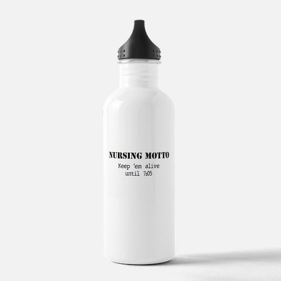 Nursing Motto Water Bottle