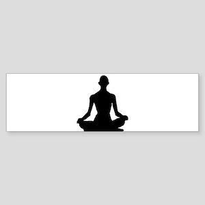 Yoga Buddhism meditation Pose Bumper Sticker