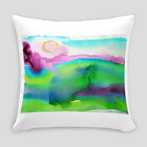 landscape, colorful art! Everyday Pillow