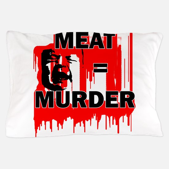 Meat is Murder Vegan Vegetarenian Poli Pillow Case