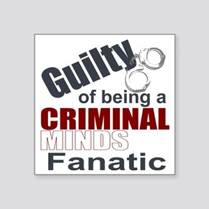 "Criminal Minds Fantic Square Sticker 3"" x 3"""