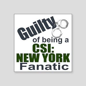 "CSI: New York Fantic Square Sticker 3"" x 3"""