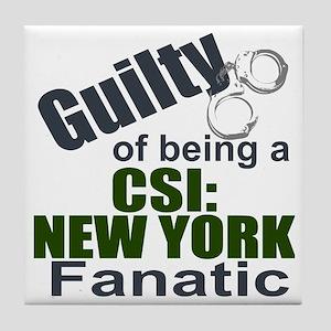 CSI: New York Fantic Tile Coaster