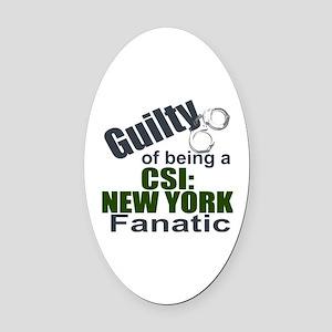CSI: New York Fantic Oval Car Magnet