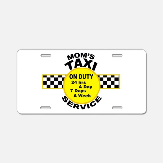 Mom's Taxi Service Aluminum License Plate