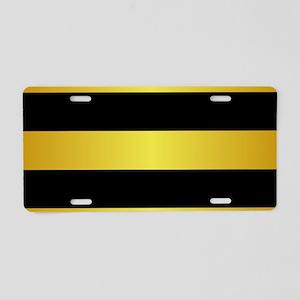 BLACK AND GOLD Horizontal Stripes Aluminum License