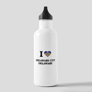 I love Delaware City D Stainless Water Bottle 1.0L