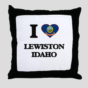 I love Lewiston Idaho Throw Pillow