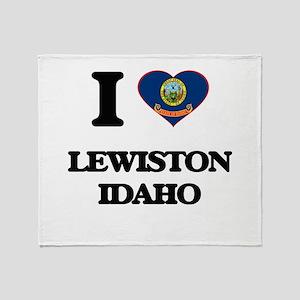 I love Lewiston Idaho Throw Blanket