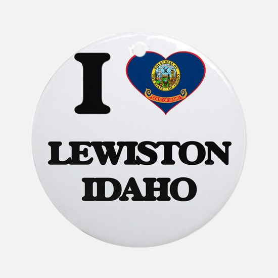 I love Lewiston Idaho Ornament (Round)