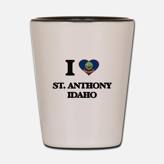 I love St. Anthony Idaho Shot Glass