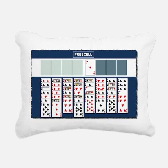 Freecell Solitaire Rectangular Canvas Pillow
