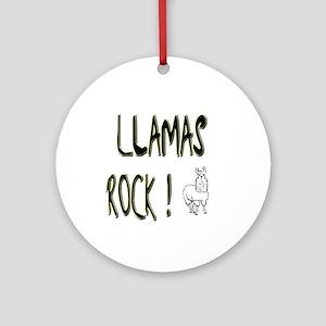 Llamas Rock ! Ornament (Round)