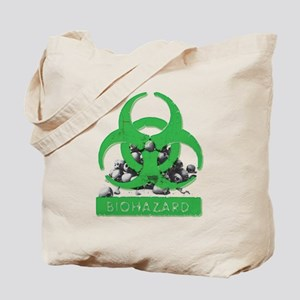 BioHazard Sign and Skulls Tote Bag
