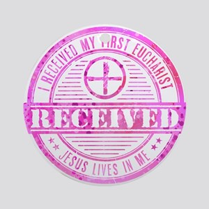 Received First Communion Pink Ornament (Round)