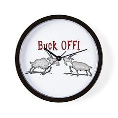 Goat Buck OFF Wall Clock