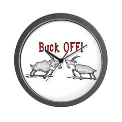 Goat Buck OFF Wall Clock