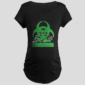 BioHazard Sign and Skulls Maternity T-Shirt