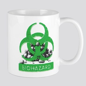 BioHazard Sign and Skulls Mugs