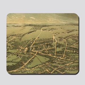 Vintage Pictorial Map of Quincy (1877) Mousepad