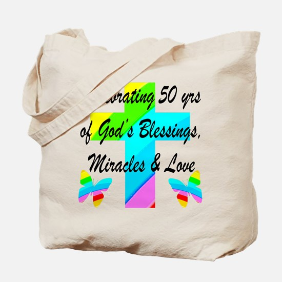 GOD LOVING 50TH Tote Bag