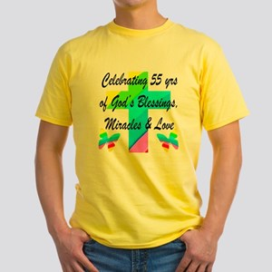 BLESSED 55 YR OLD Yellow T-Shirt
