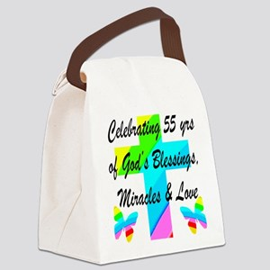 BLESSED 55 YR OLD Canvas Lunch Bag