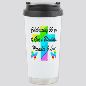 BLESSED 55 YR OLD Stainless Steel Travel Mug