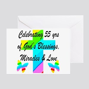 BLESSED 55 YR OLD Greeting Card