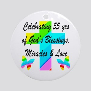 BLESSED 55 YR OLD Ornament (Round)