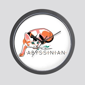 Abyssinian cat Wall Clock