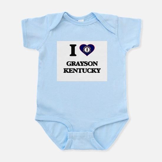 I love Grayson Kentucky Body Suit