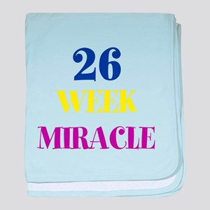 Personalized Gestational Age baby blanket