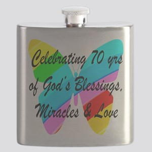 GOD LOVING 70TH Flask