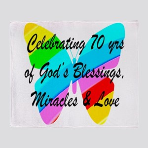 GOD LOVING 70TH Throw Blanket