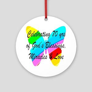 GOD LOVING 70TH Ornament (Round)