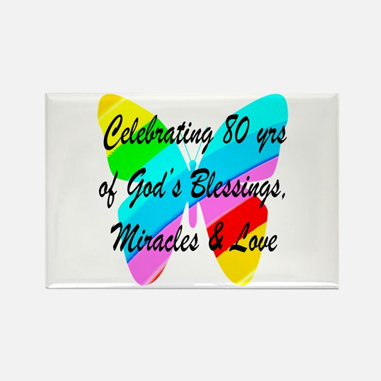 BLESSED 80 YR OLD Rectangle Magnet (10 pack)
