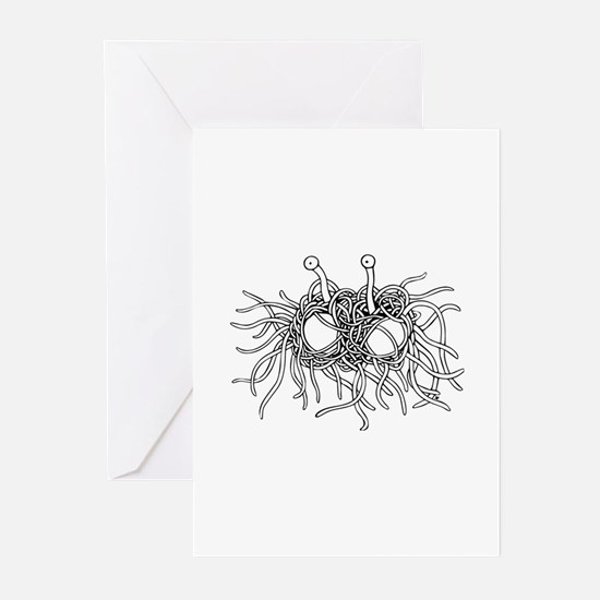 Flying Spaghetti Monster I Greeting Cards